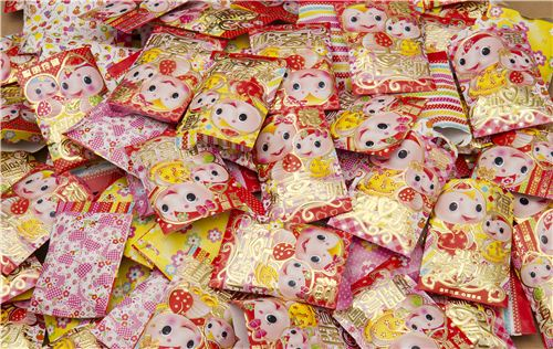 A first glimpse at the kawaii red pockets we are giving away with each order for Chinese New Year