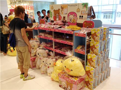 There is a big merchandising booth with hundreds or Rilakkuma items to buy
