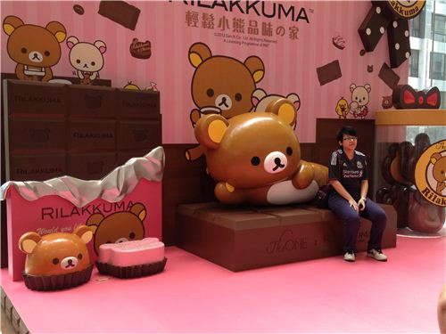 The major Rilakkuma booth with cute details and lots of chocolate