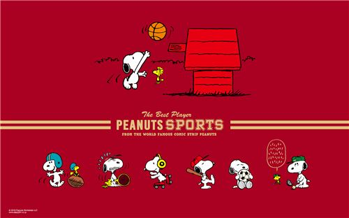 Snoopy the sports pro!
