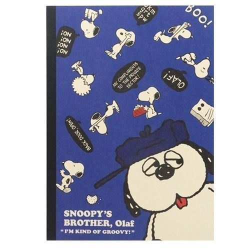 dark blue Snoopy dog notebook exercise book