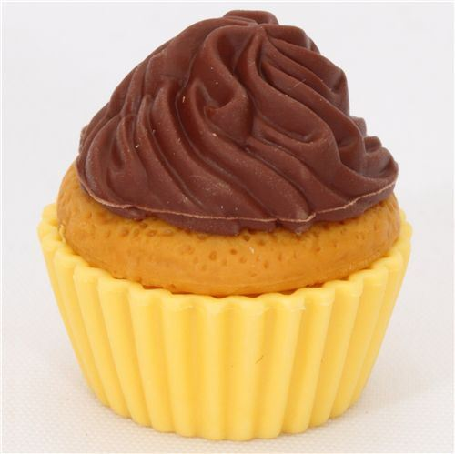 chocolate cupcake eraser from Japan by Iwako