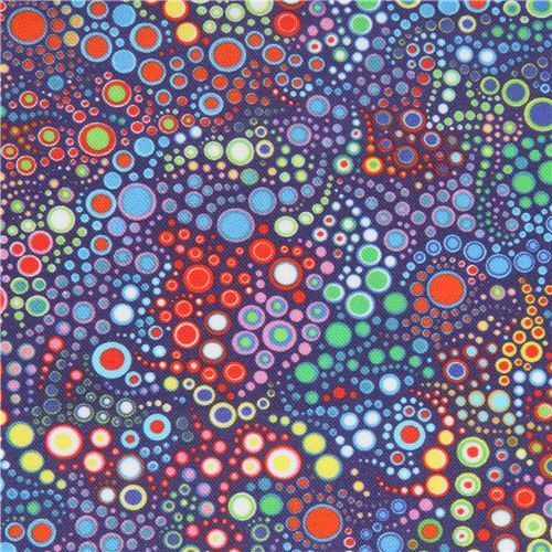 lime green blue circle dot bubble fabric Robert Kaufman Effervescence Digital