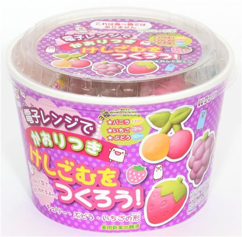 cute DIY eraser making kit Fruits from Japan