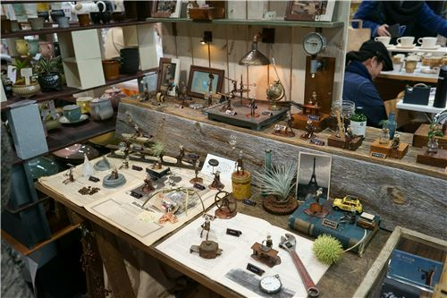 A display of miniature items