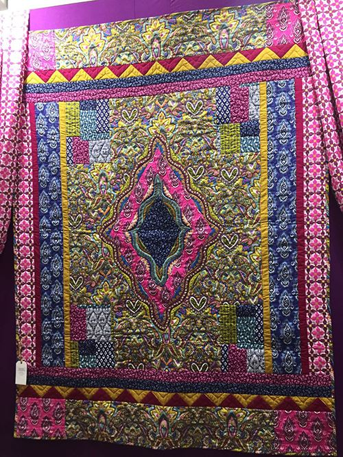 Check out this stunning Michael Miller patchwork quilt